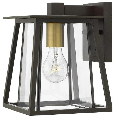 Hinkley Walker 1 Light Small Outdoor Wall Lantern Buckeye Bronze IP44