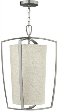 Hinkley Blakely Brushed Nickel 3 Lamp Kitchen Pendant Light
