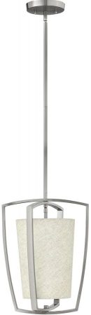 Hinkley Blakely Brushed Nickel 1 Light Small Kitchen Pendant