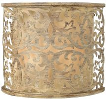 Hinkley Carabel Brushed Champagne 2 Lamp Designer Wall Light