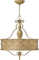 Hinkley Carabel Brushed Champagne 3 Light Designer Pendant