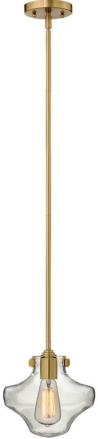 Hinkley Congress Gold 1 Light Glass Cowl Shade Pendant