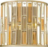 Hinkley Gemma Luxury 2 Light Crystal Wall Lamp Silver Leaf