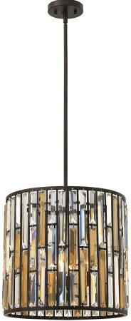 Hinkley Gemma Luxury 3 Light Crystal Cylinder Pendant Vintage Bronze
