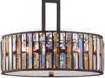 Hinkley Gemma Luxury 3 Light Crystal Drum Pendant Vintage Bronze