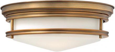 Hinkley Hadley Art Deco Design Brushed Bronze 3 Lamp Flush Light