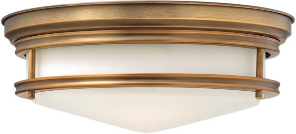 Hinkley Hadley Art Deco Design Brushed Bronze 3 Lamp Flush Light