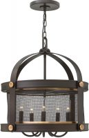 Hinkley Holden Buckeye Bronze 5 Lamp Industrial Pendant Light