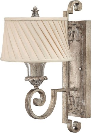 Hinkley Kingsley Large 1 Lamp Designer Wall Light Silver Leaf