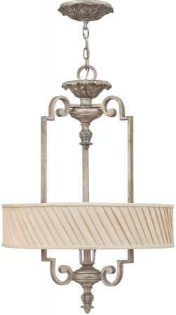 Hinkley Kingsley 3 Light Designer Ceiling Pendant Silver Leaf
