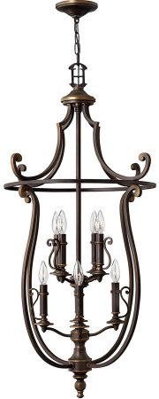Hinkley Plymouth Large 8 Light Lantern Pendant Old Bronze