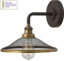 Hinkley Rigby Buckeye Bronze 1 Light Industrial Wall Lamp