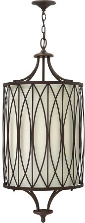 Hinkley Walden Large 4 Light Pendant With Linen Inner Victorian Bronze