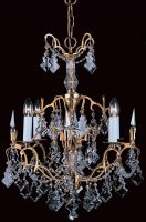 Impex Montmartre 4 Light Lead Crystal Chandelier French Gold