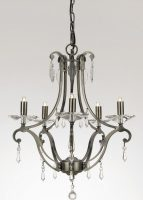 Impex Salerno Medium 5 Light Versailles Chandelier With Crystal