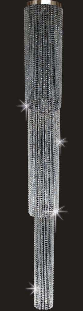 Impex Three Tiered 9 Light Flush Crystal Chandelier 3m Drop Stled403241 09 Ch