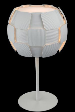 Impex Brigitte Modern White 1 Light Low Energy Table Lamp