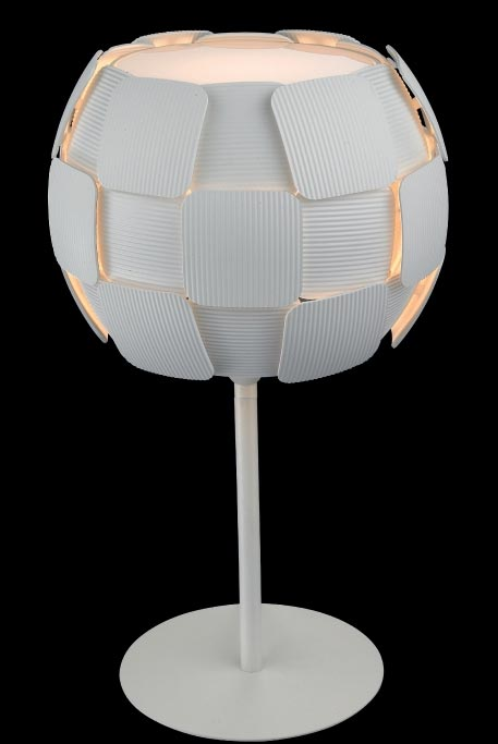 Impex Brigitte Modern White 1 Light Low Energy Table Lamp
