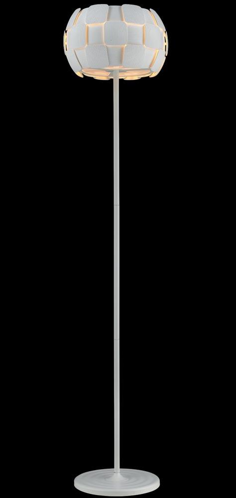 Impex Brigitte Modern White 3 Light Low Energy Floor Lamp
