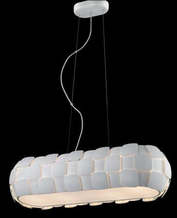 Impex Brigitte Modern White 4 Light Low Energy Rectangular Pendant