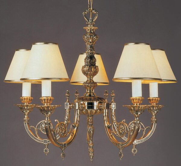 Impex Chelsea Solid Brass 5 Light Chandelier Brooklands Collection