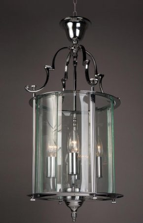 Impex Colchester Georgian 4 Light Hanging Lantern Polished Chrome