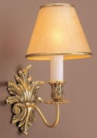 Impex Dauphine Solid Brass Leaf Design Traditional Single Wall Light