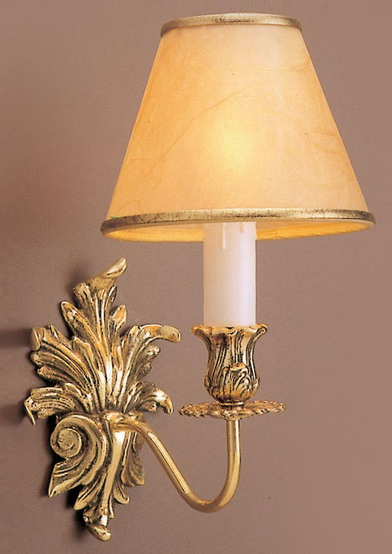 Vintage Brooklands Solid Brass Single wall light 3 available