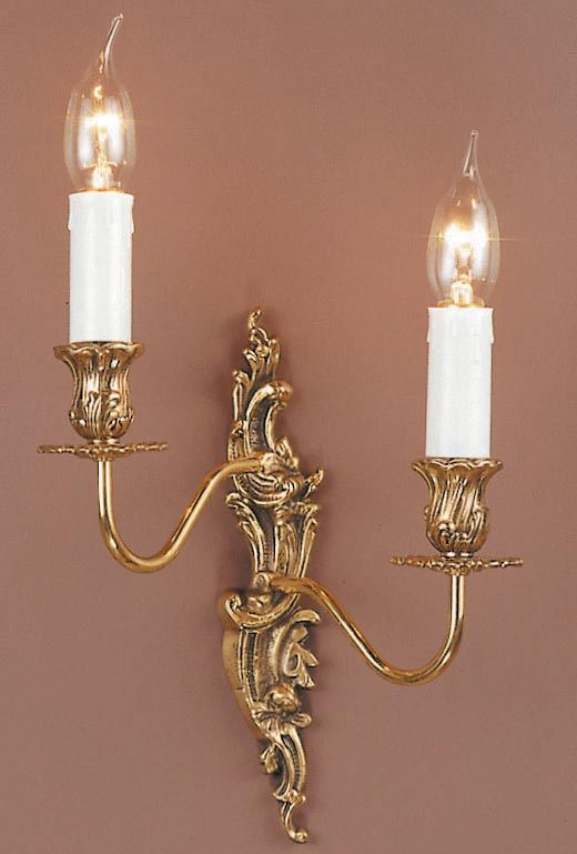Impex Dauphine Louis Philippe Style Left Hand Twin Wall Light Solid Brass
