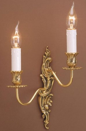 Impex Dauphine Louis Philippe Style Right Hand Twin Wall Light Solid Brass