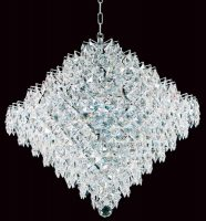 Impex Diamond Large Strass Crystal 18 Light Art Deco Chandelier Chrome