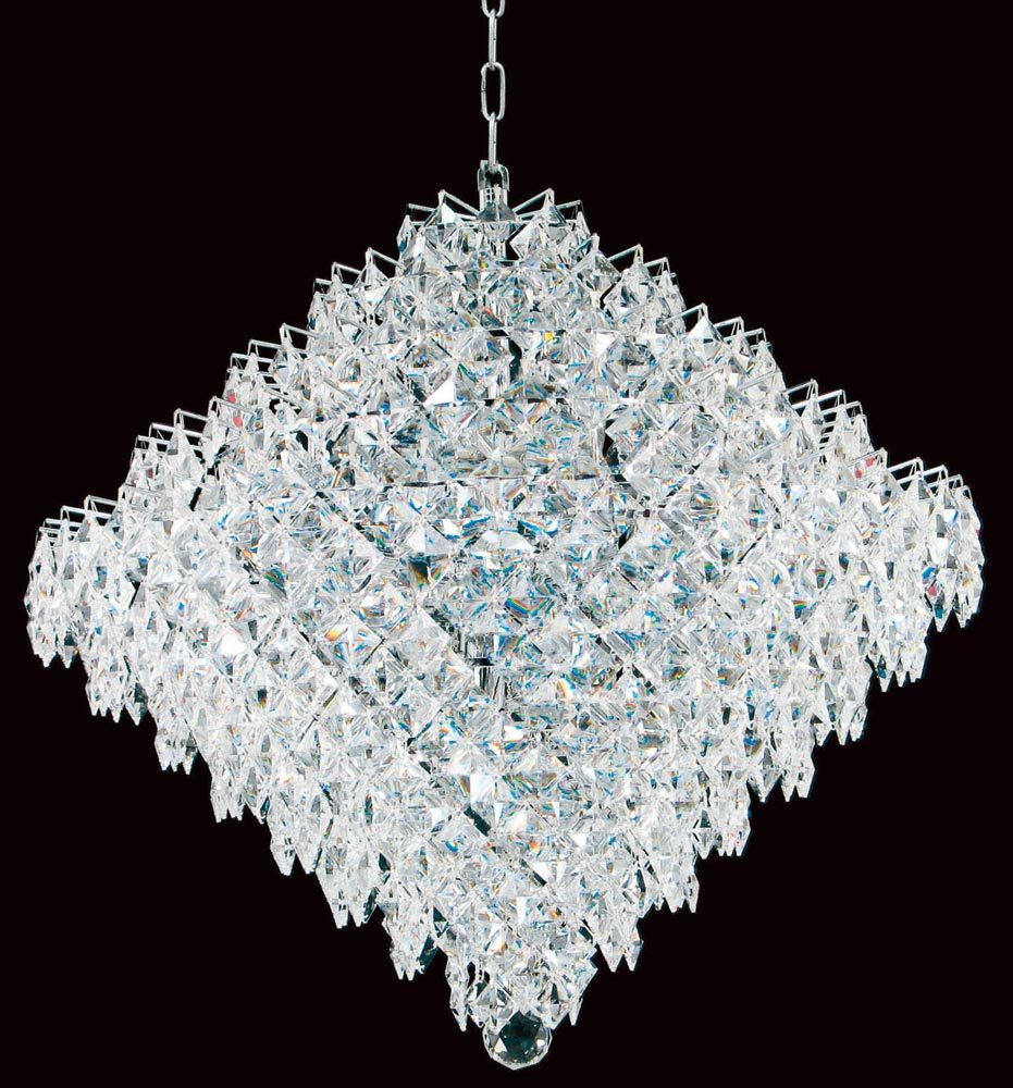 Impex diamond large strass crystal 18 light art deco chandelier chrome aloadofball Images