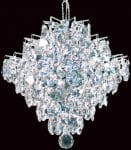 Impex Diamond Small Strass Crystal 1Light Art Deco Pendant Chrome