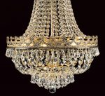 Impex Frankfurt Strass Crystal 8 Light Empire Chandelier Gold