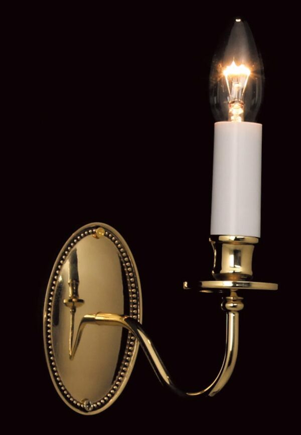 Impex Georgian Solid Brass 1 Lamp Wall Light Brooklands Collection