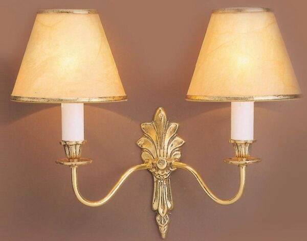 Impex Goodwood Traditional Solid Polished Brass Twin Wall Light