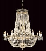 Hamburg Very Large 30 Light Empire Crystal Chandelier Gold Plated