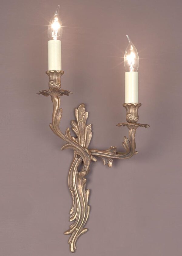 Impex Louis Left Hand Solid Brass Twin Wall Light Brooklands Collection