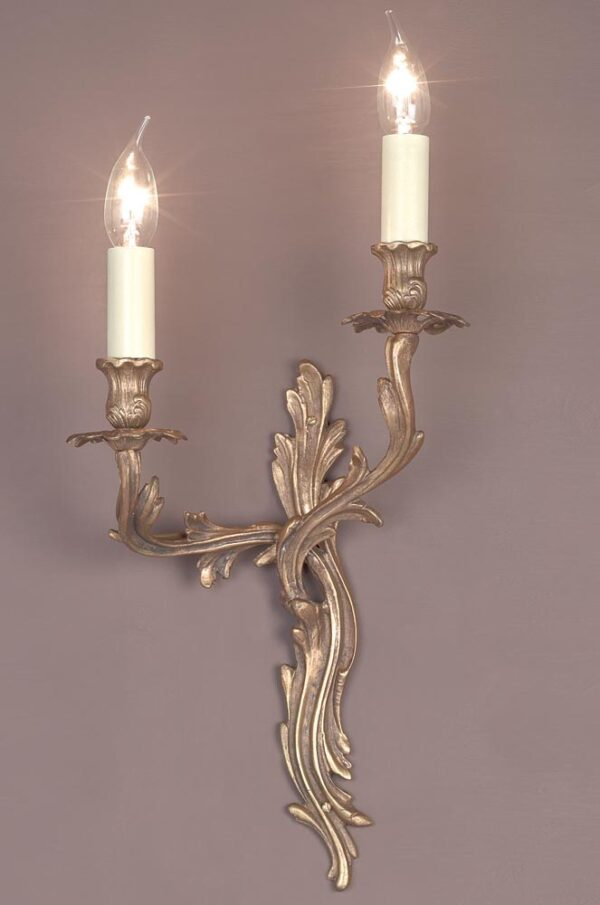 Impex Louis Right Hand Solid Brass Twin Wall Light Brooklands Collection