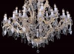 Impex Morina Very Large Georgian 25 Light Crystal Chandelier Gold