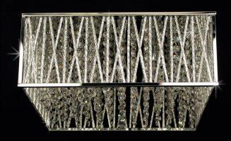 Impex Melenki Chrome Flush 4 Light Crystal Fitting Contemporary