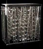 Impex Melenki Chrome Single Bulb Crystal Wall Light Contemporary