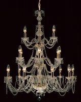 Impex Modra Large 18 Light Georgian Style Chandelier Strass Crystal