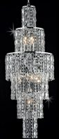 Impex New York 6 Light Crystal Cascade Chandelier Polished Chrome
