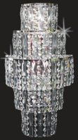 Impex New York 3 Light Crystal Cascade Wall Light Polished Chrome