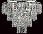 Impex New York 8 Light Crystal Cascade Chandelier Polished Chrome