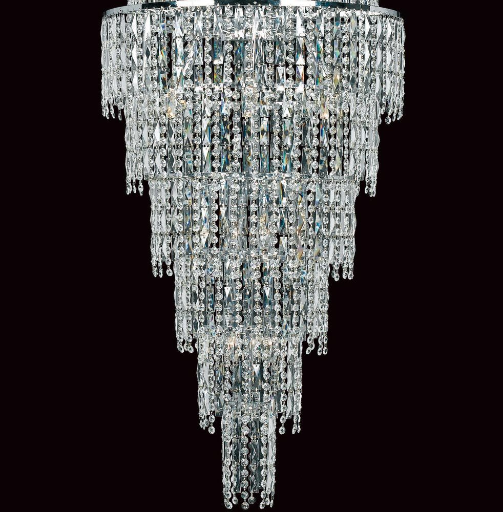 polished chandelier modern lights picture brizzo chrome large liberale crystal of round lighting stores foyer