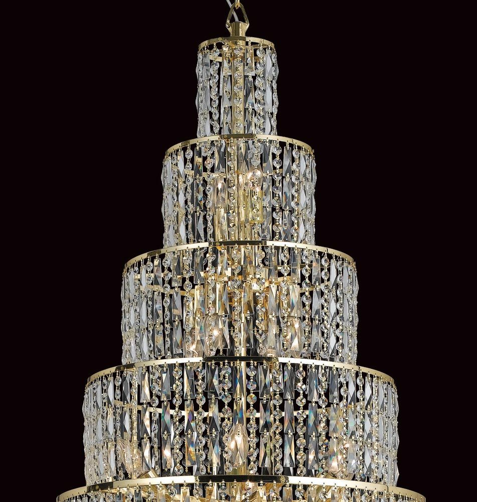 Impex New York Large 24 Light Crystal Chandelier Gold ...