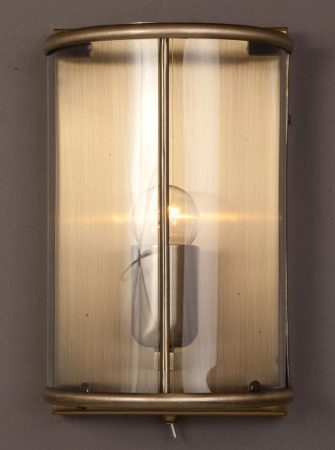 Impex Orly 1 Light Half Wall Lantern With Switch In Antique Brass