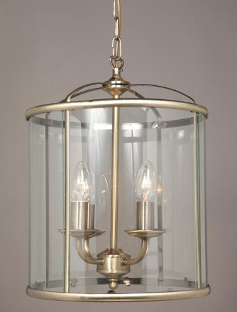 Impex Orly 4 Light Traditional Hanging Lantern In Antique Brass